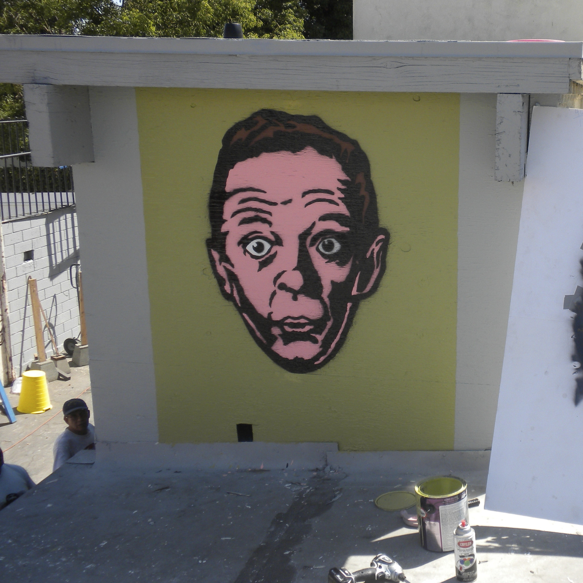 Don Knotts stencil in Echo Park (Los Angeles) CA.