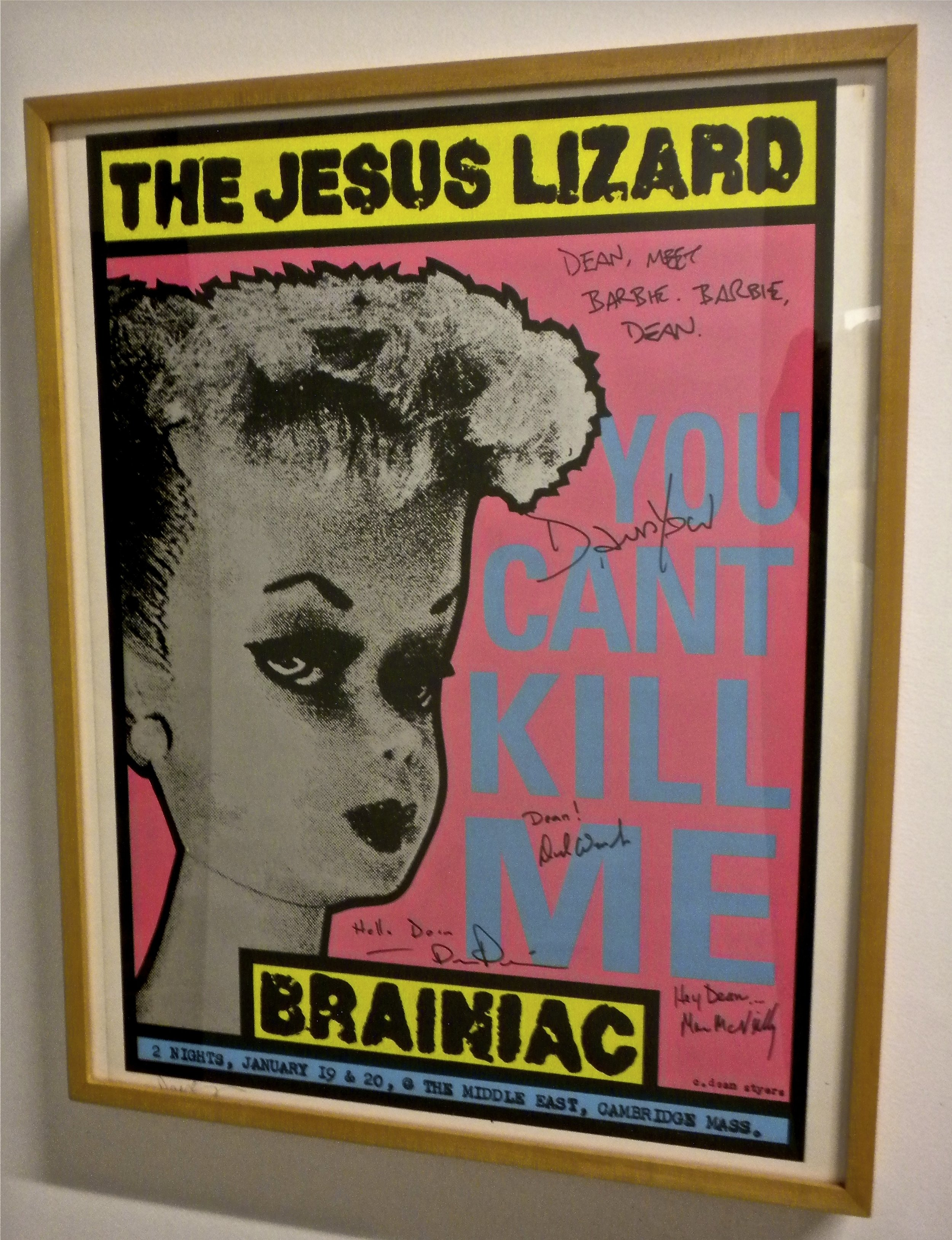 The Jesus Lizard/Brainiac poster design/screenprint.