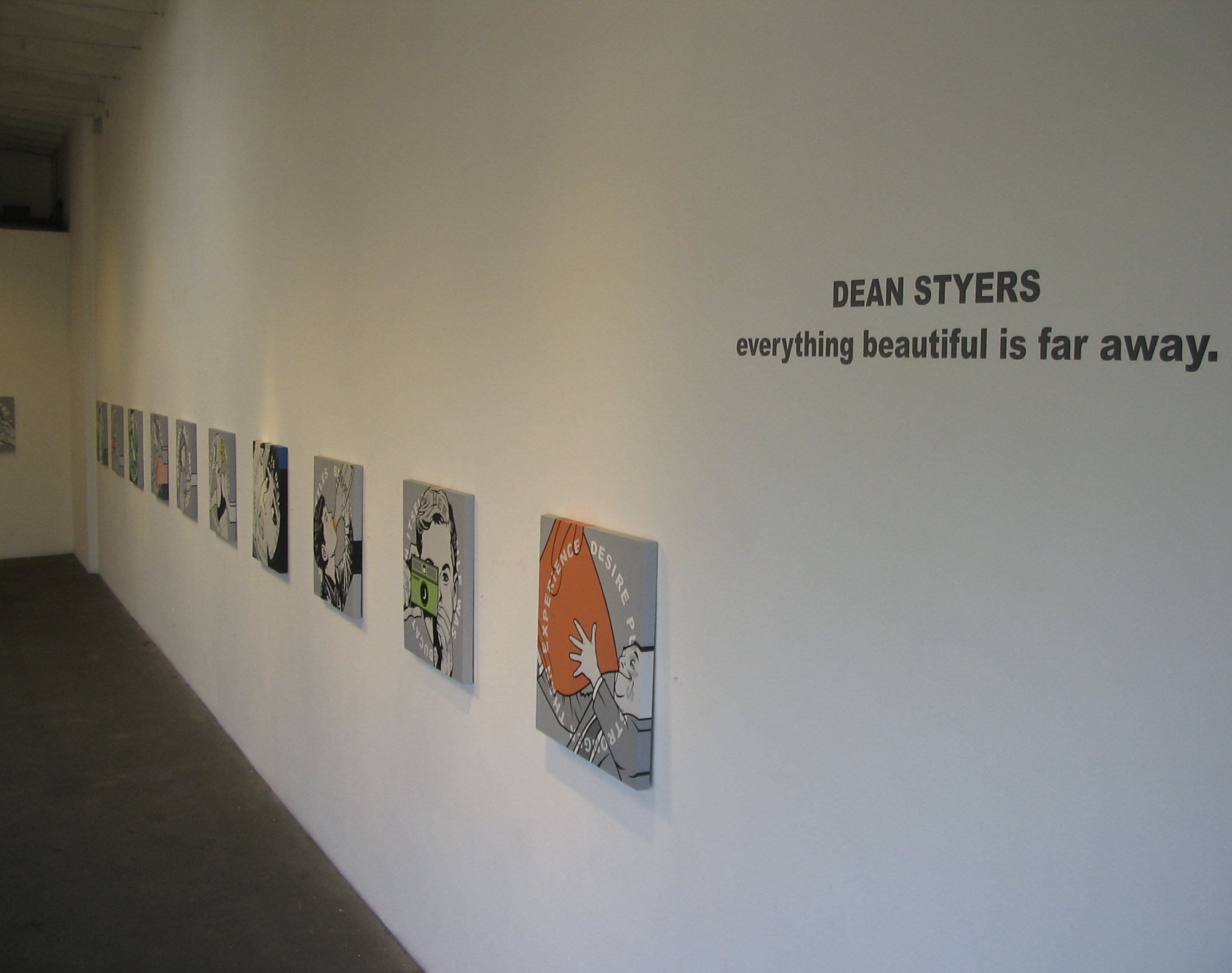 """Everything beautiful is far away"" Solo show @ Bergamot Station, Santa Monica CA."