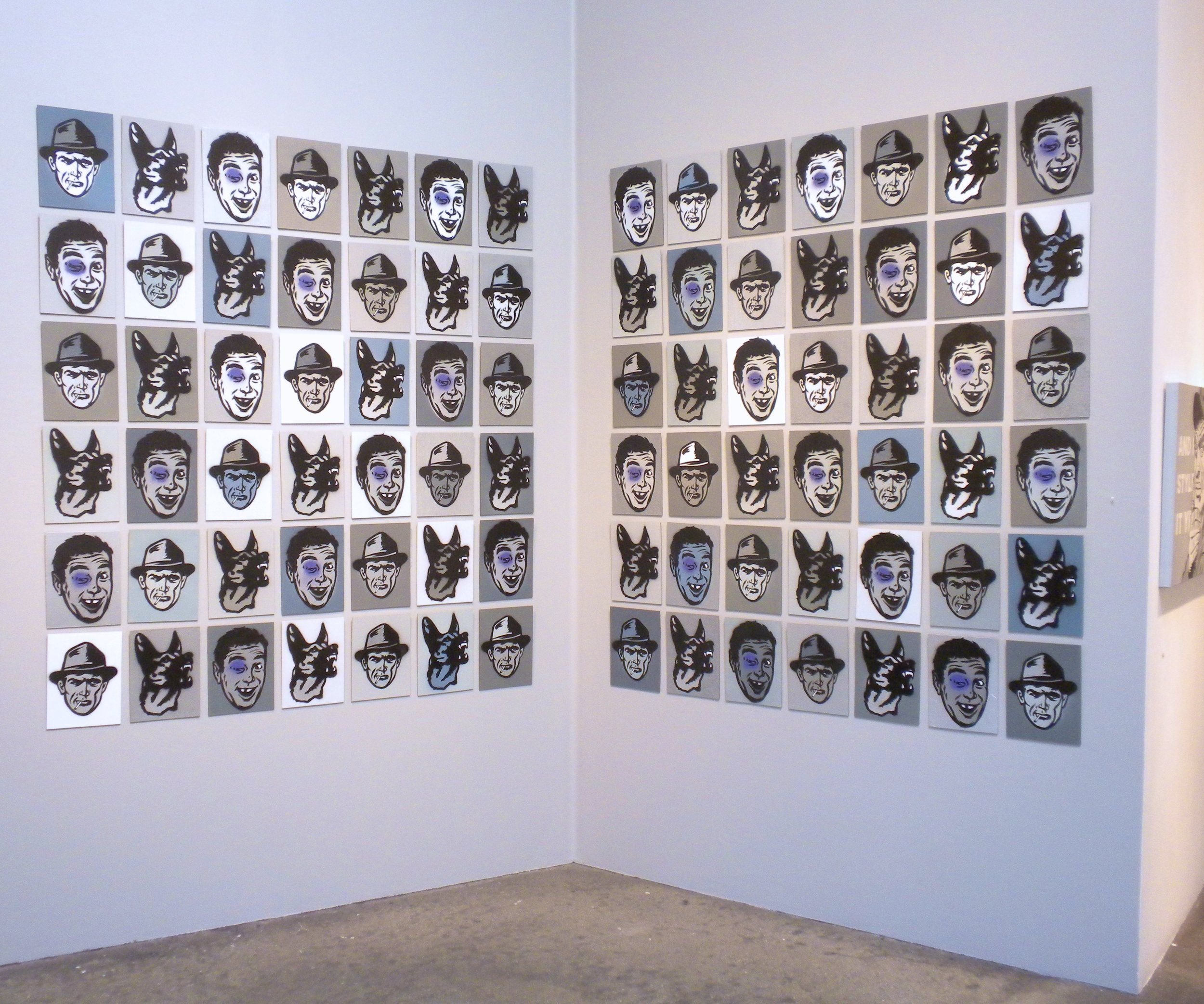 Small stencil series/gallery installation (Some still available for purchase)