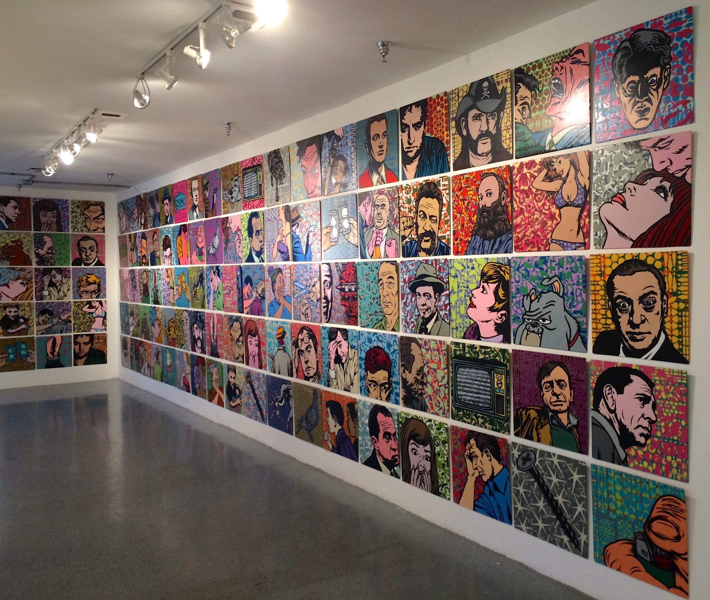 Stencil paintings/Installed gallery view.