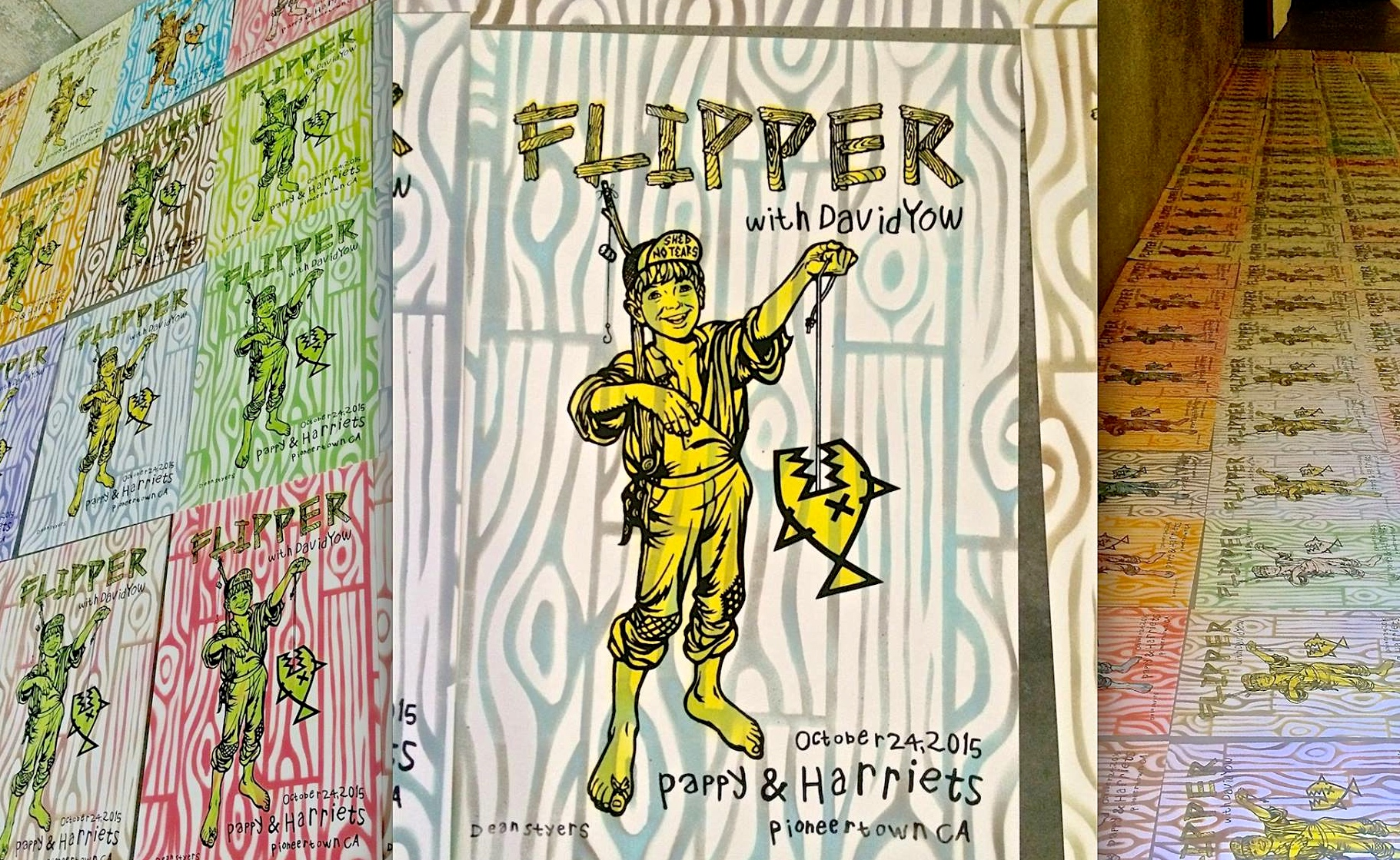 Flipper show poster. Screen print/stencil. Edition of 160, Hand screened/stenciled/signed & numbered (Available for purchase)