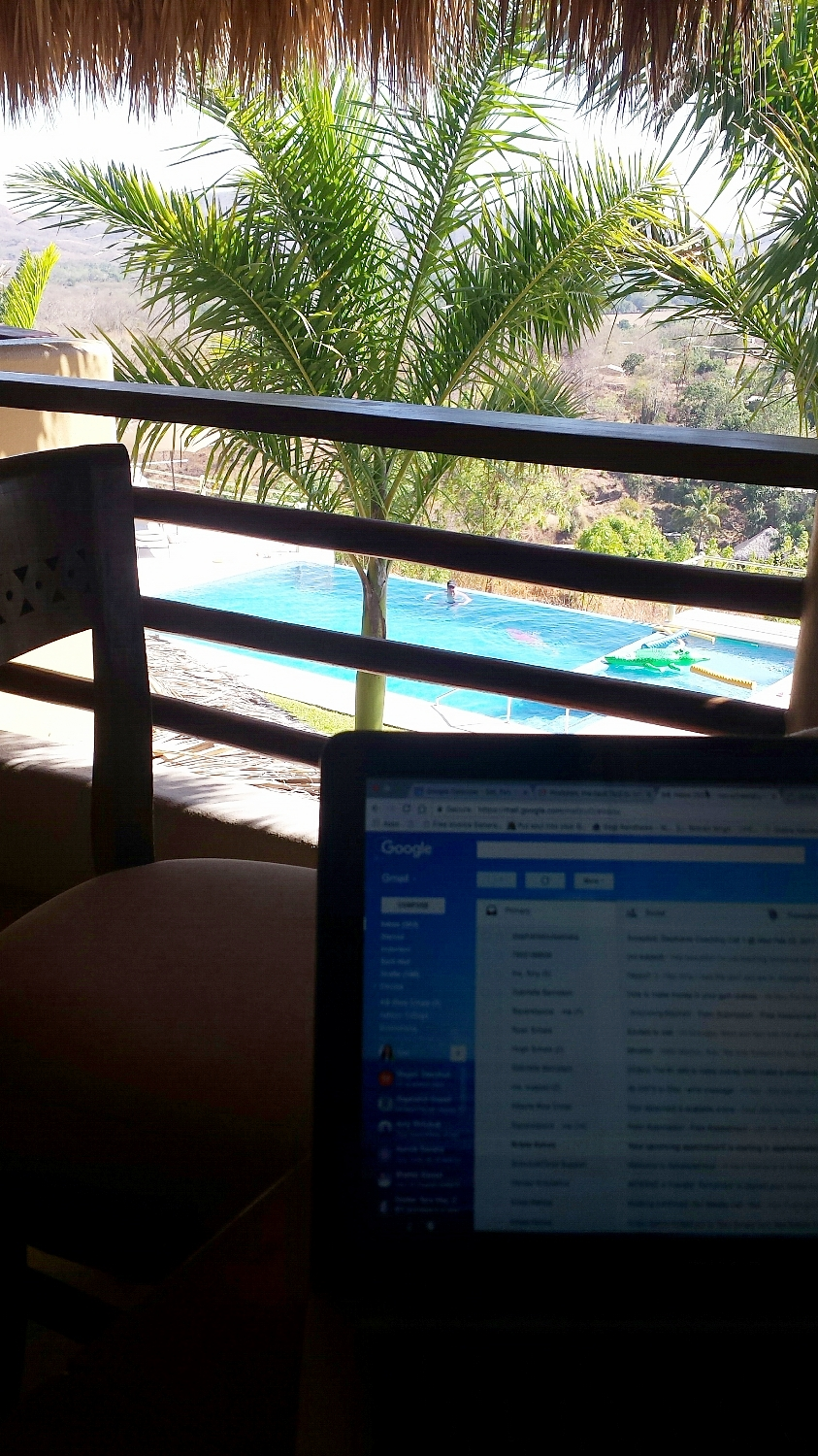 The view from my office. Feb 2017. Annual goal to have a work-ation (work + vacation) from Mexico (CHECK! :))