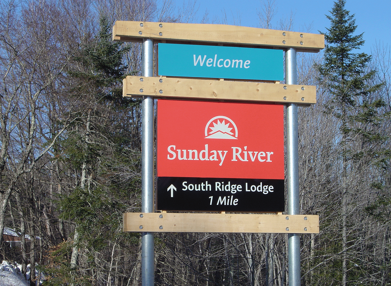 Sunday River Wayfinding Sign