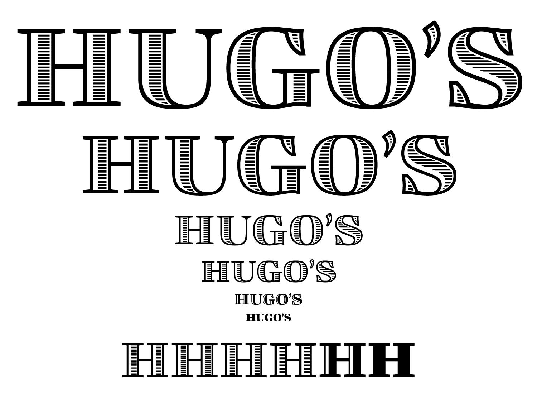 Hugo's Logotype Optical Sizes