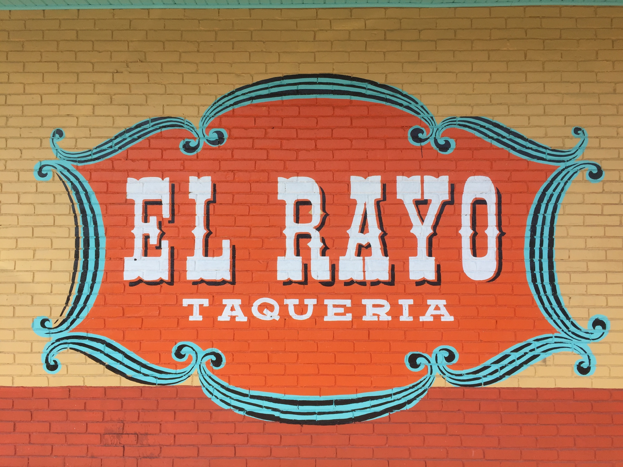El Rayo Hand Painted Sign
