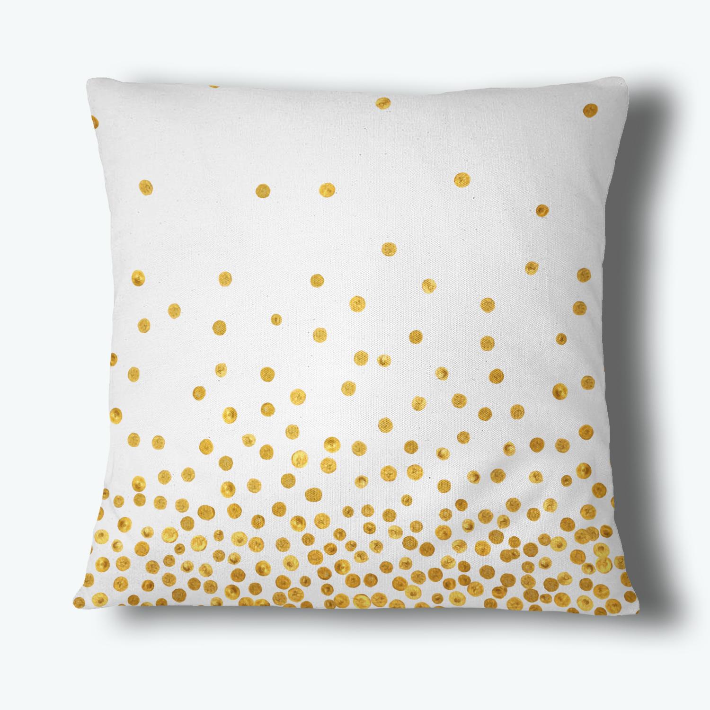 Confetti Dot Throw Pillow