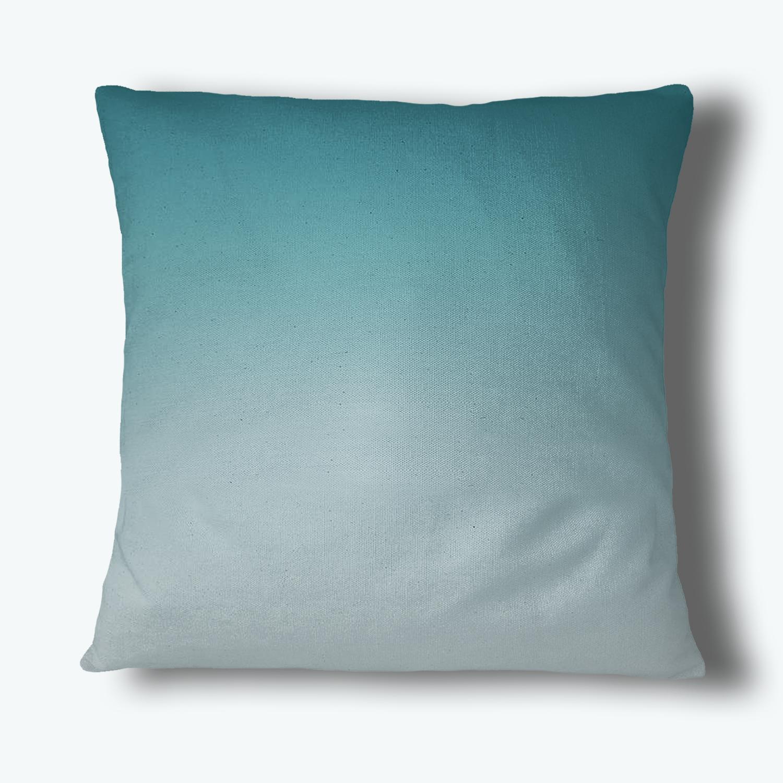 Fade Out Throw Pillow, Teal