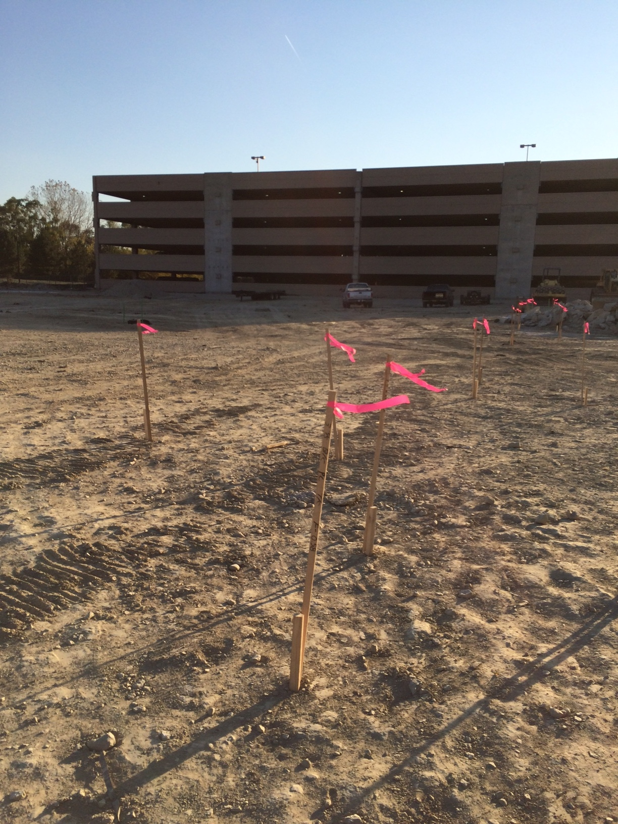 Site excavation for expanded surface lot complete