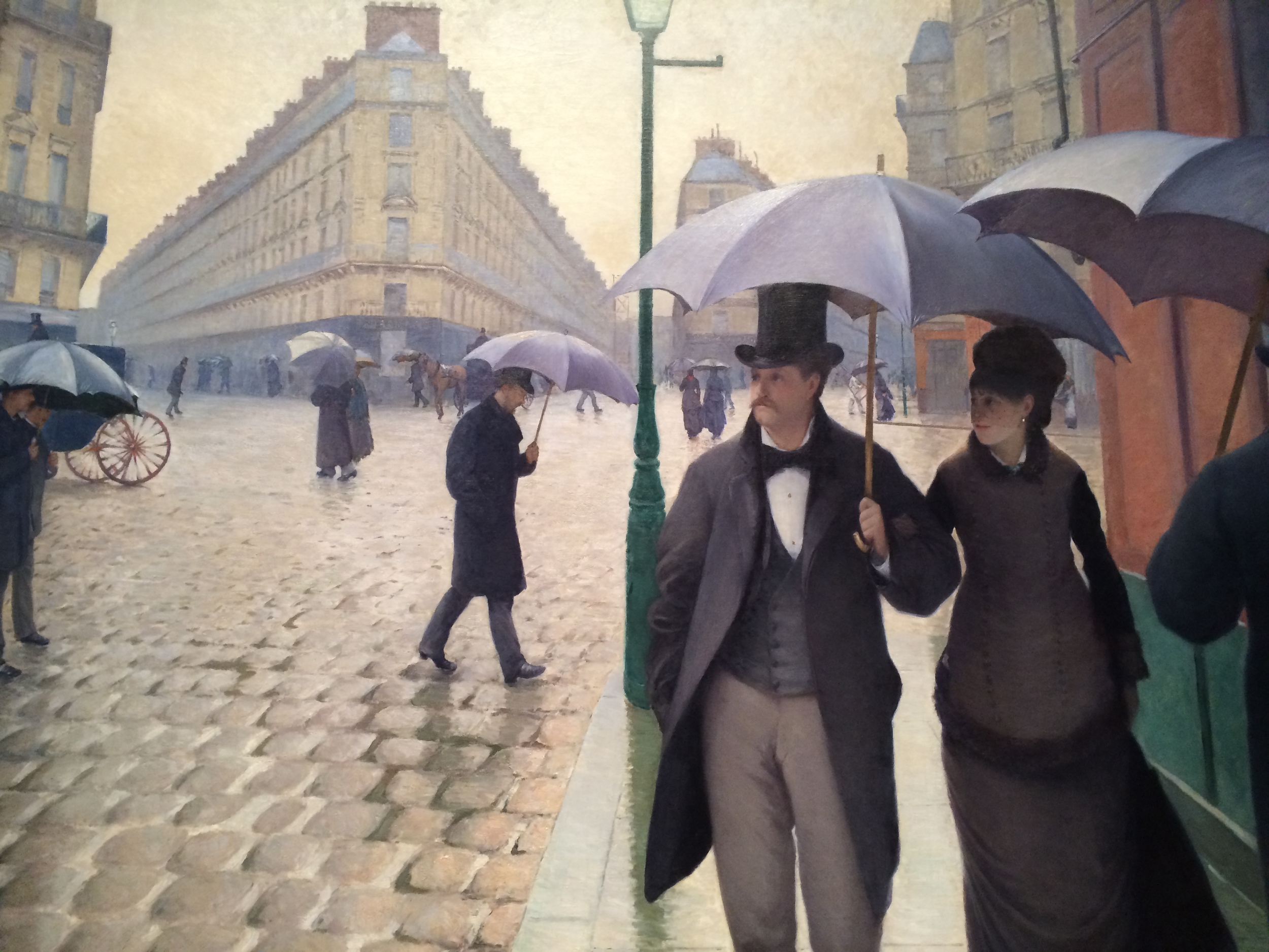 Gustave Caillebotte's Paris Street; Rainy Day at the Art Institute of Chicago