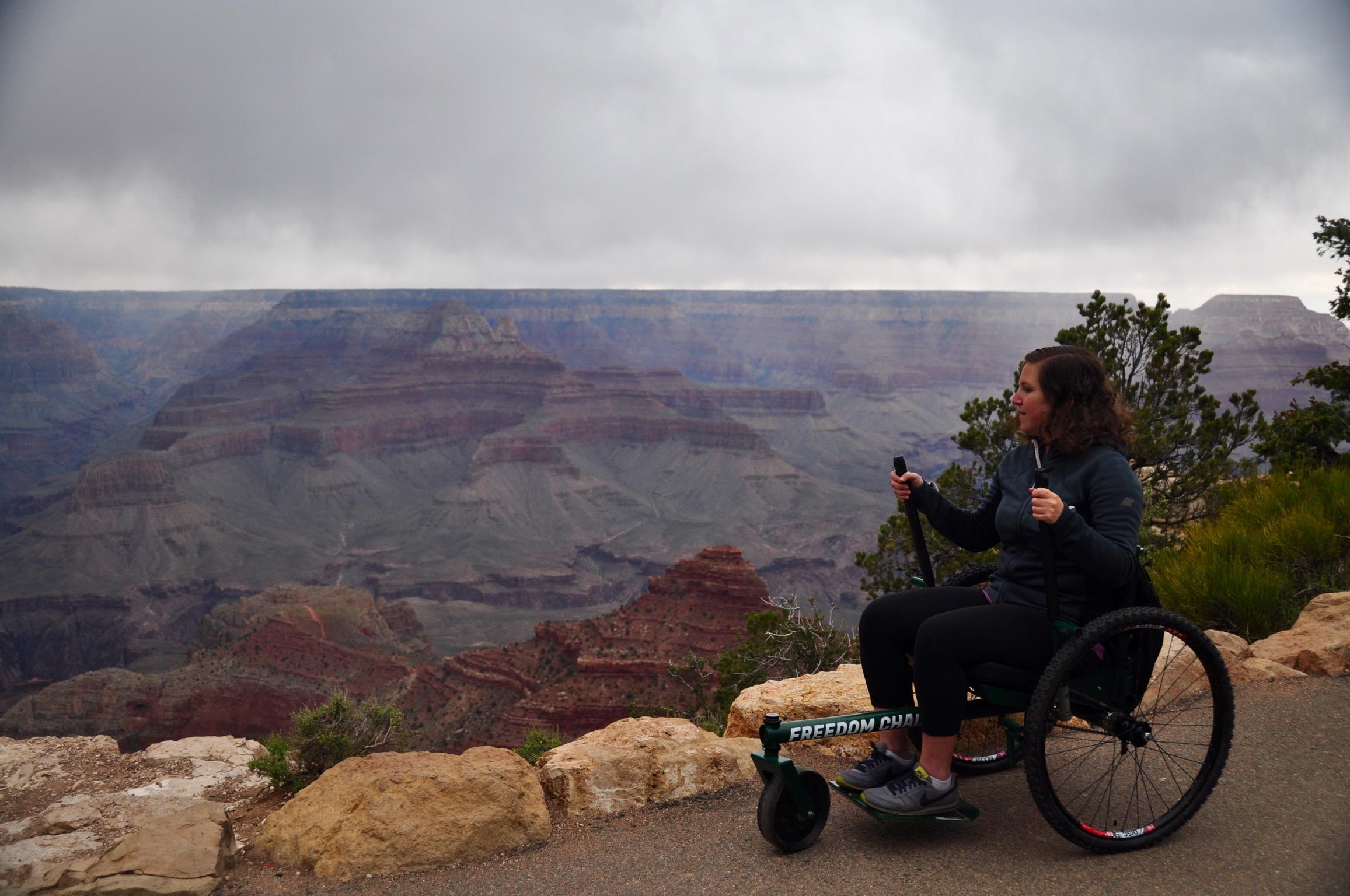 Soaking up the view at the Grand Canyon.