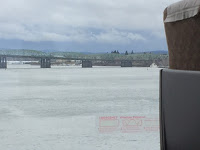 Crossing the Columbia River outside of Portland, OR on the way to Seattle, WA . . . Roll on!