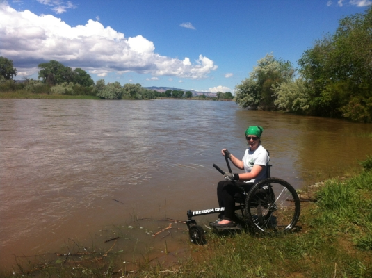 Wheelin' in the Colorado River!