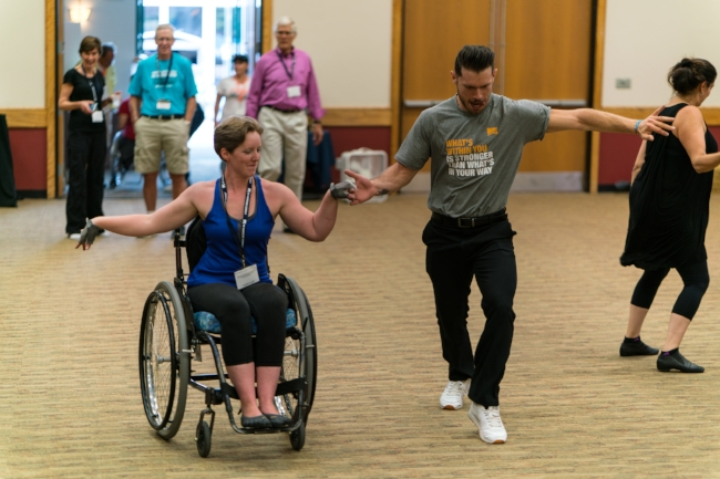 Using my wheelchair at the No Barriers Summit 2016, I was able to dance for the first time in 3 years! What an extra treat that it was a Salsa Dance with the amazingly talented Henry Byalikov!