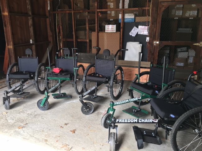 Freedom Chair Fleet, ready for action!
