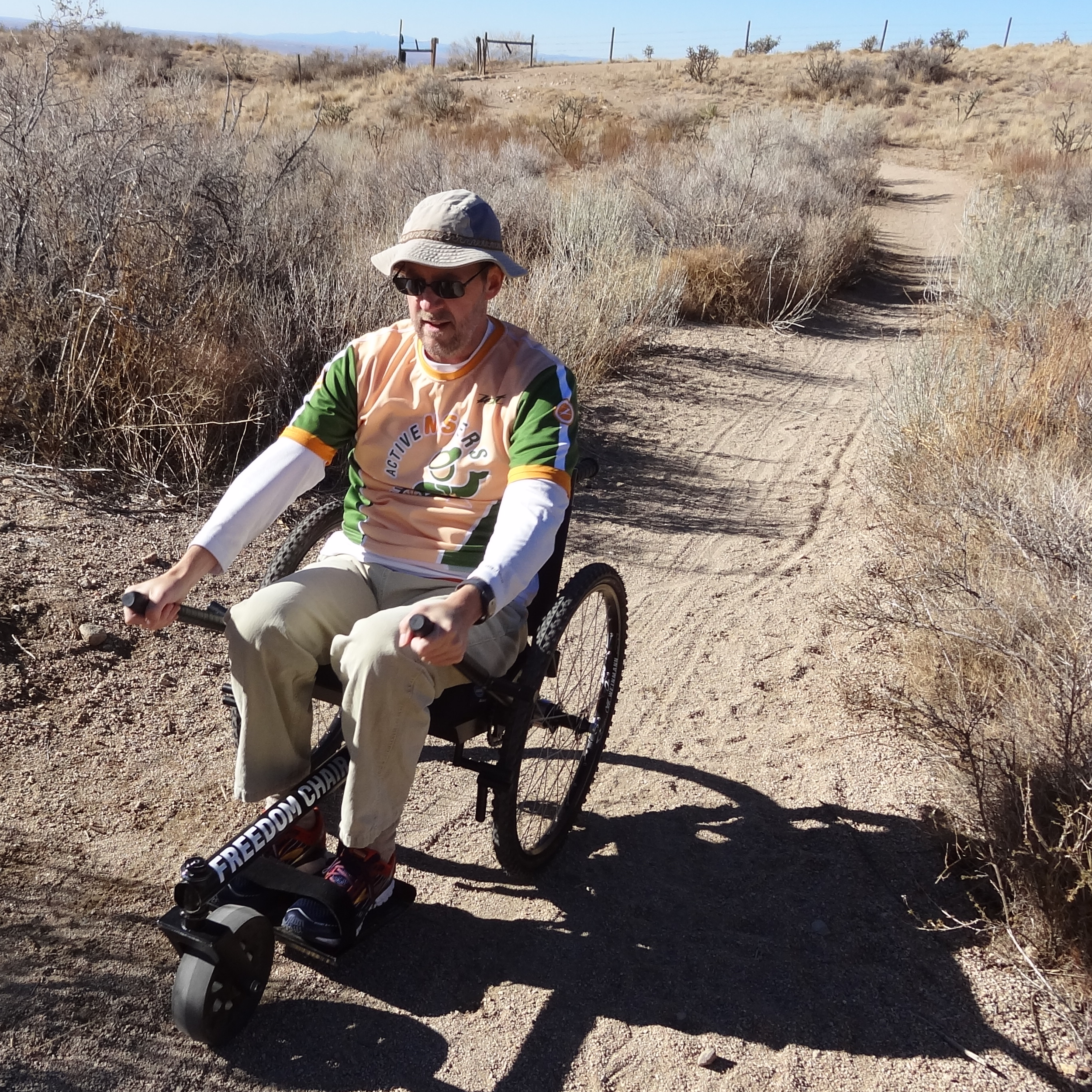 """The GRIT Freedom Chair eclipsed expectations, and will take you to places on three wheels you never thought possible. Its design is elegantly simple—and brilliant."" Read more from Dave and his experience with the Freedom Chair on his site,    ActiveMSers.org   ."