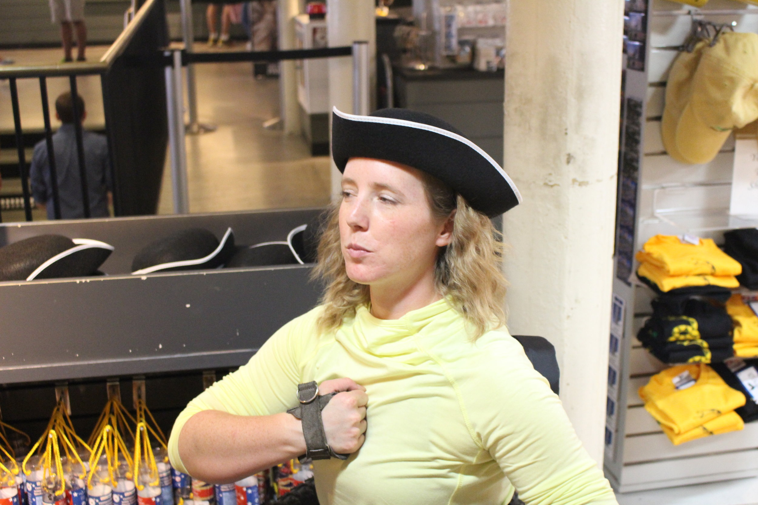 Just goofing off a little in one of the many gift shops along the Freedom Trail's route!