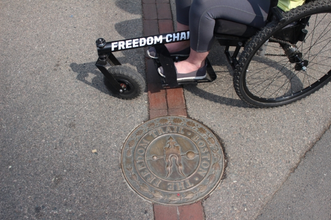 I got way to big a kick out of taking my    Freedom Chair    on the    Freedom Trail   , LOL!