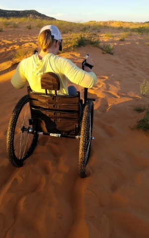 It felt amazing to be out in a sea of sand as the desert sun set around me.