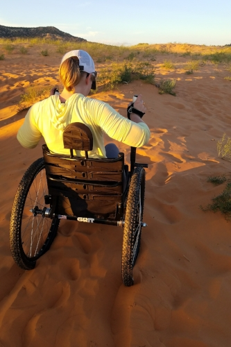 Read more about how the GRIT Freedom Chair helps in sandy deserts  HERE!