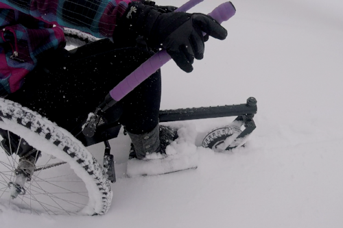 Winter is no match for the GRIT Freedom Chair!