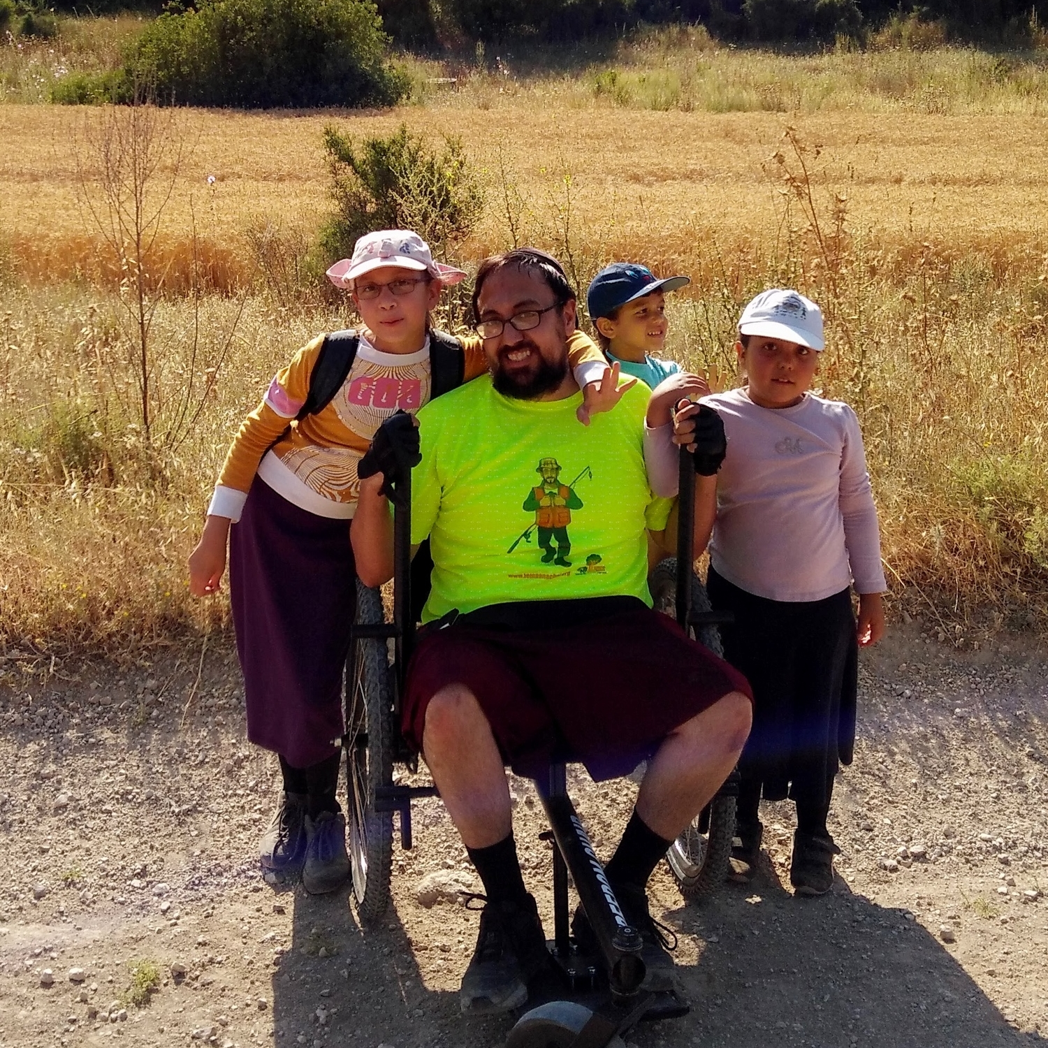 When word of this chair got around, I became a local celebrity. I've already done some hikes with people who happened to hear about the chair. I've made new friends, joined a hiking club, and been more active than I have in years.    —Ilan