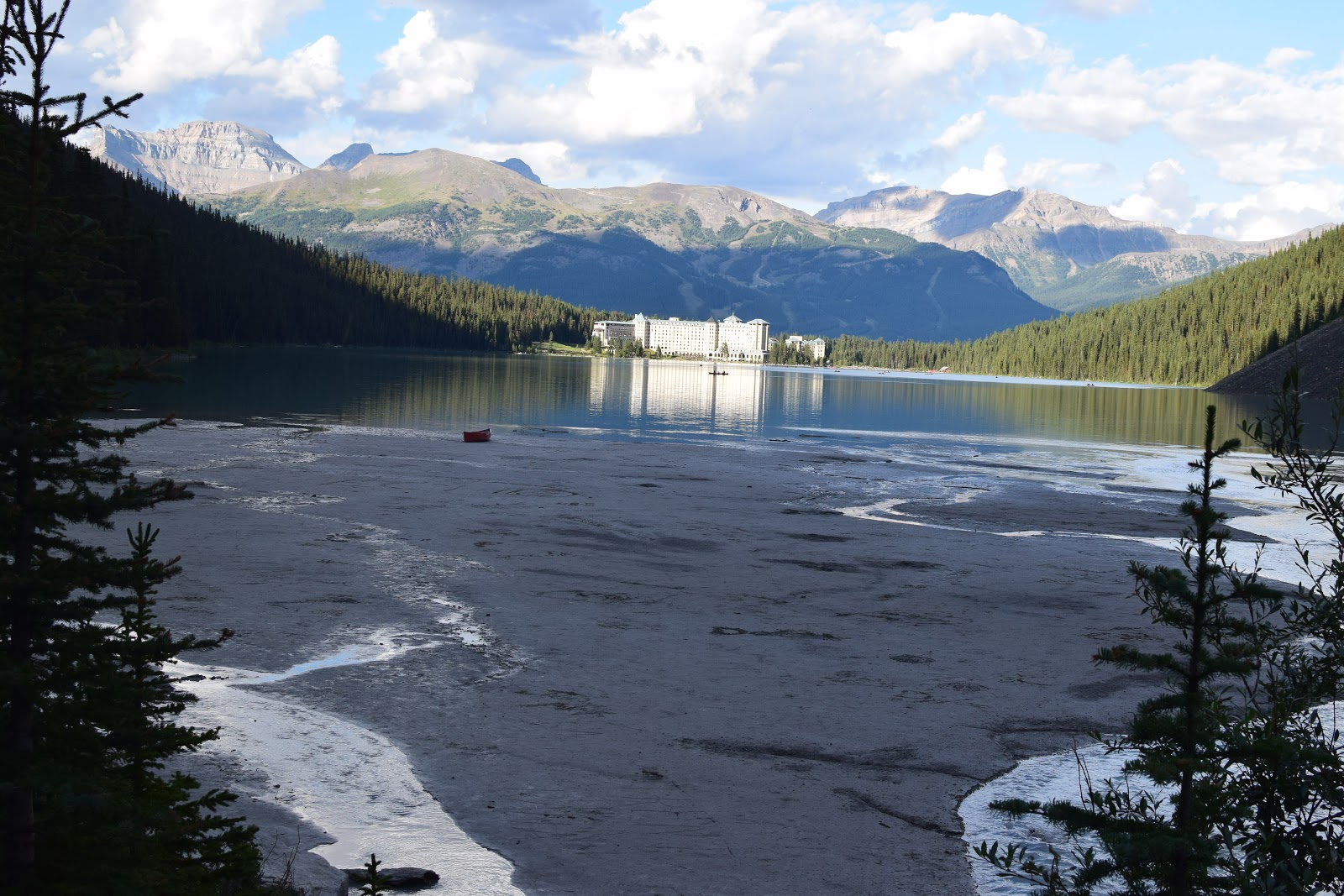 Chateau Lake Louise from the back side of the lake
