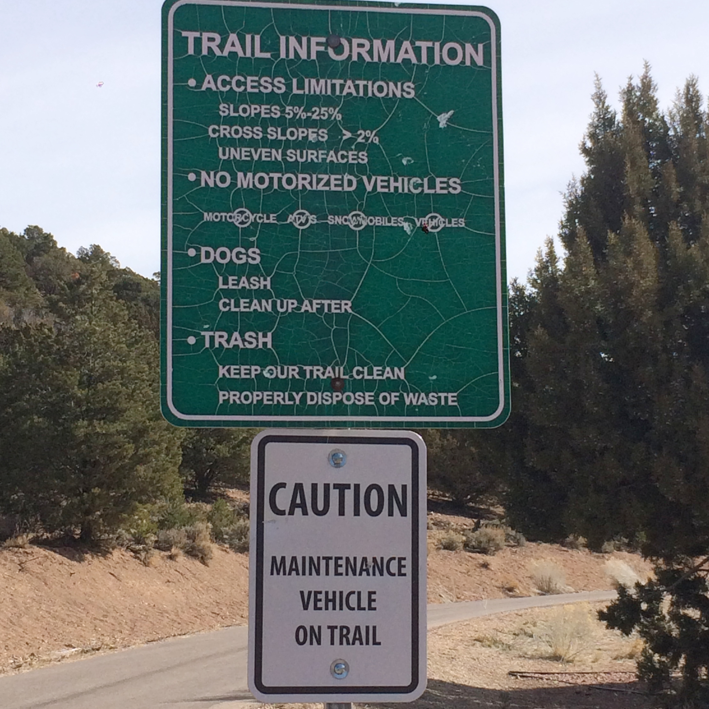 West Trail Head - Trail Information Sign