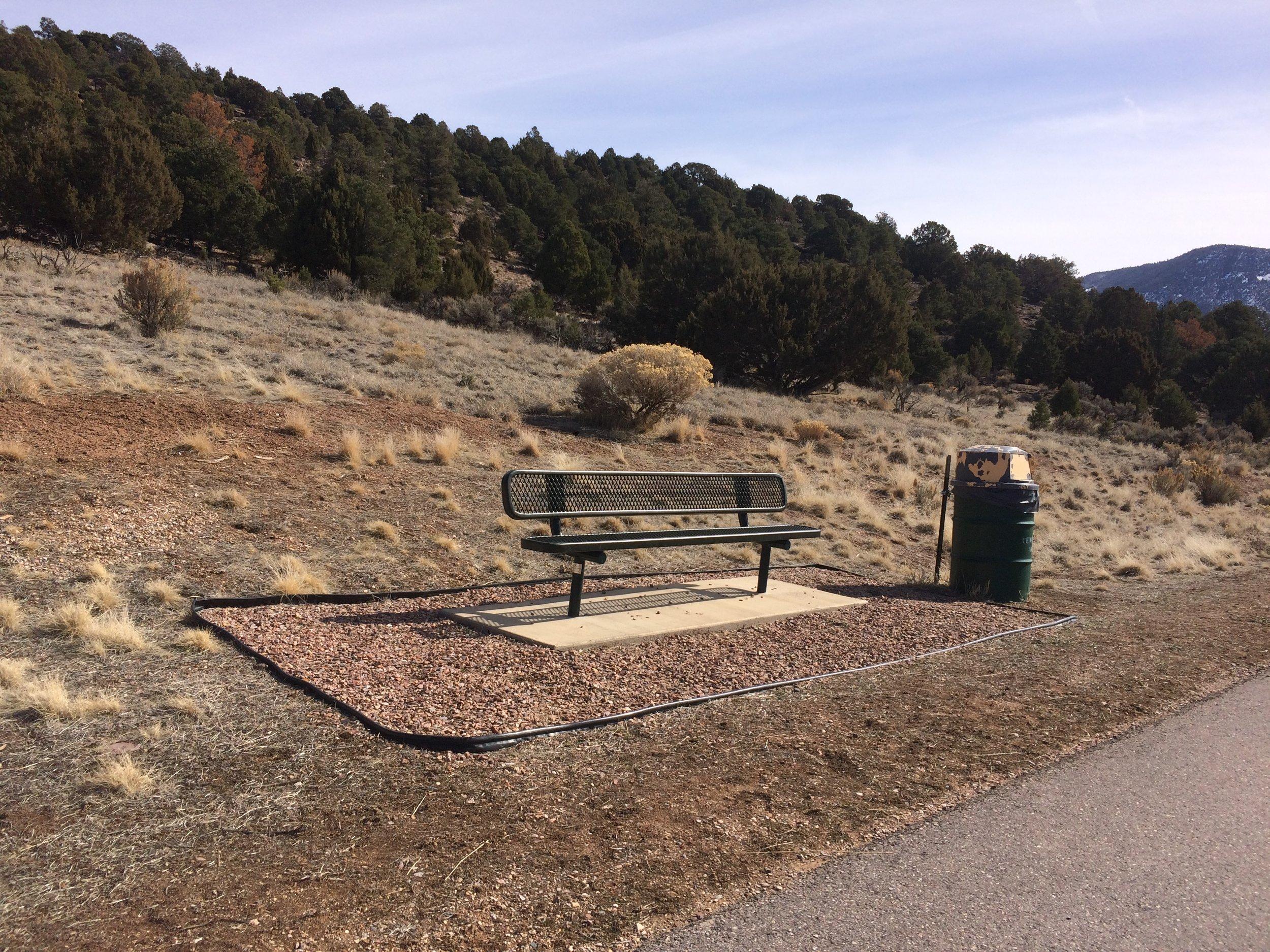 Half-way point bench