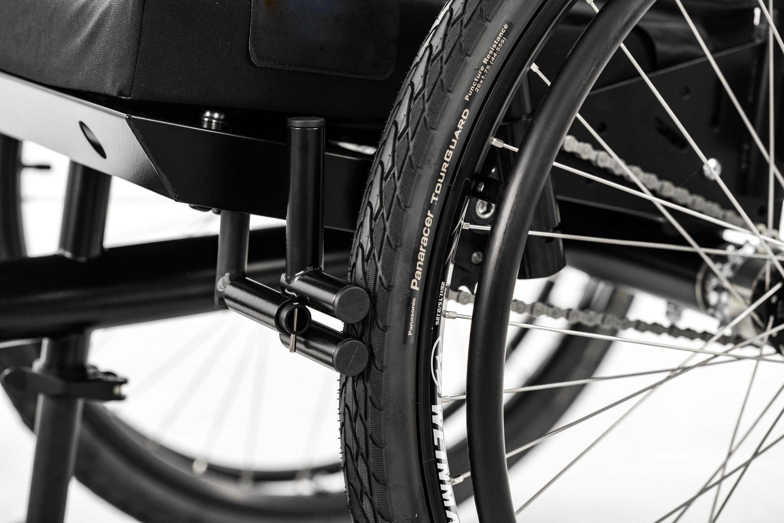 Using a tire with a smooth tread will allow you to move faster and easier on pavement.