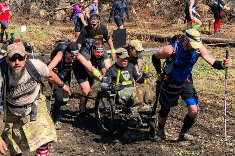 """""""Tackled the Spartan 12-hour Hurricane Heat and Beast in Vernon, NJ, this weekend with my  Oscar Mike  family. 24 hours nonstop on that mountain. The chair didn't blink.""""  -  Tyler Rich"""