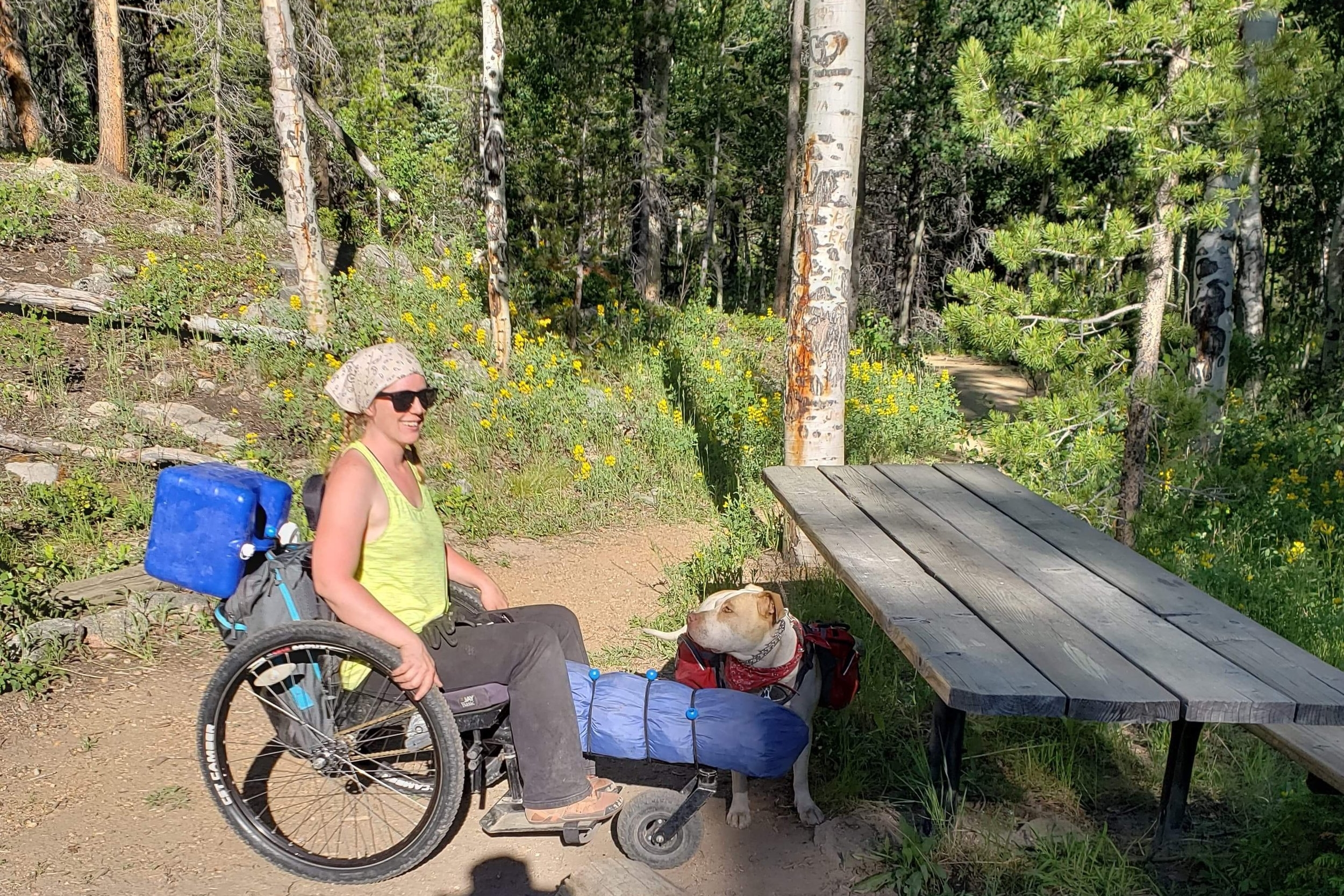 My GRIT Freedom Chair had the balance and stability to get loaded with gear and still be able to tackle inclines, tree roots, and all kinds of things.