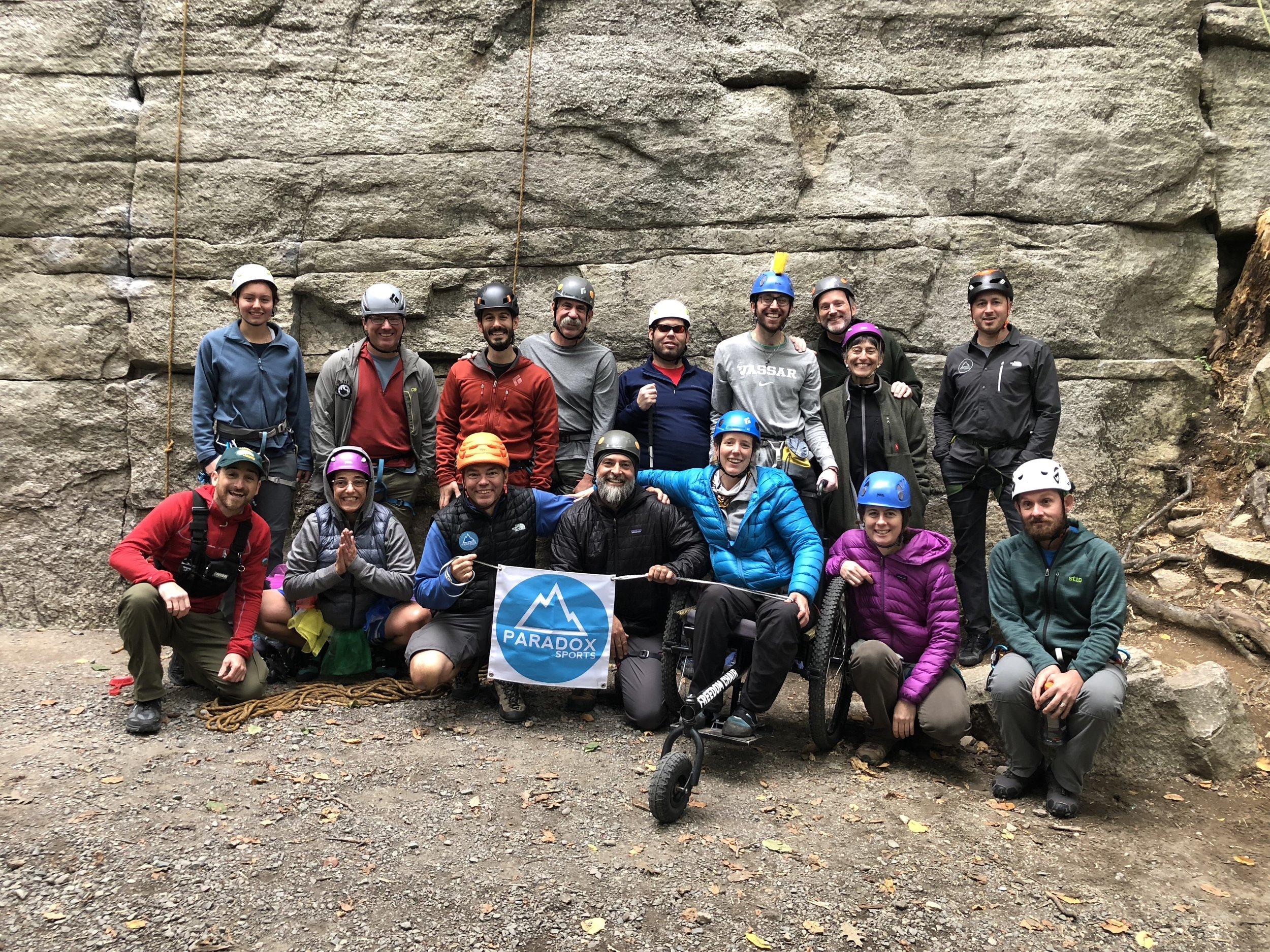 The Paradox Sports climbing team for the 2018 Gunks trip!