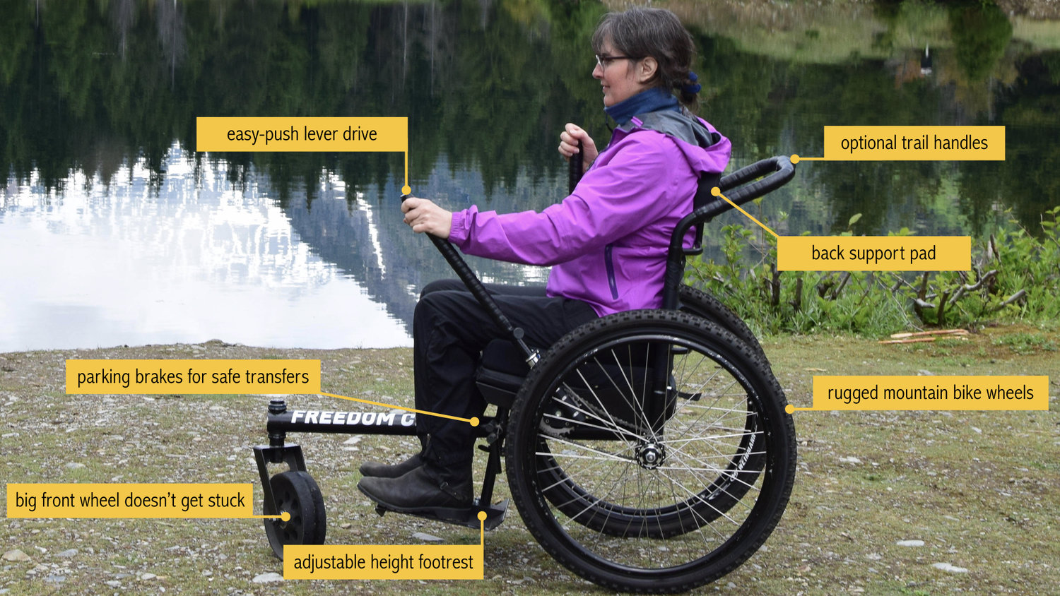 The GRIT Freedom Chair: all-terrain wheelchair
