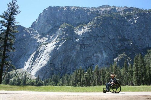 I use my Freedom Chair everywhere I go. I've even used it in Yosemite and went all over the park. I love the levers, which are far easier for me to use than hand-rims on a standard wheelchair.    —  Eric , in Yosemite