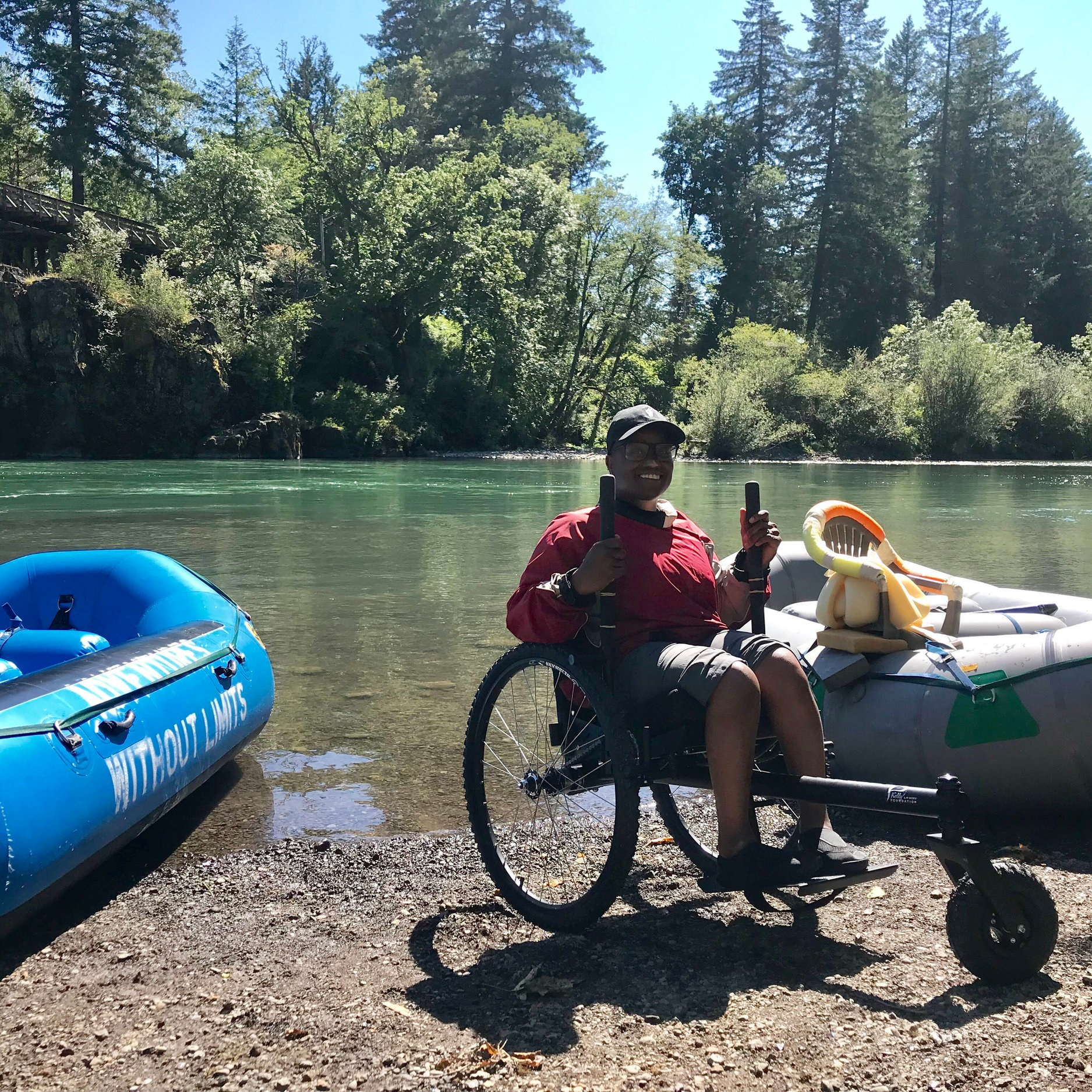 Spent three days off the grid camping…getting around definitely would not have been easy for me without my GRIT Freedom Chair.    —Evita , T12 paraplegic