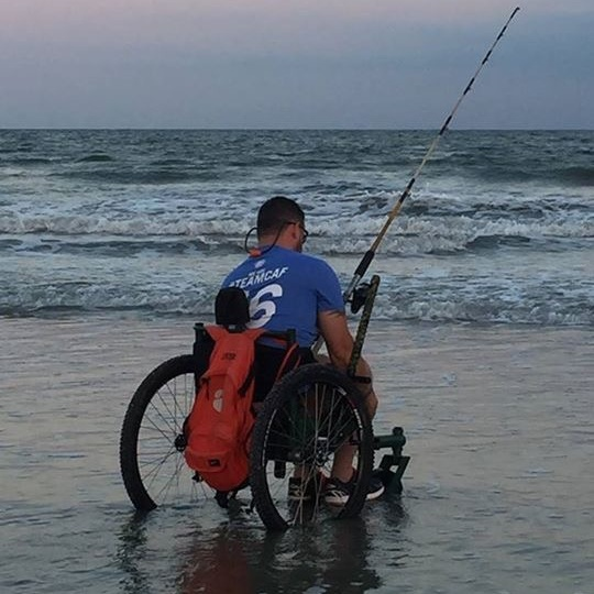 Going out on the beach and riding by the water is huge highlight since getting a Freedom Chair! It also makes going camping so much easier.    —Jeremy , T4-T5 paraplegic