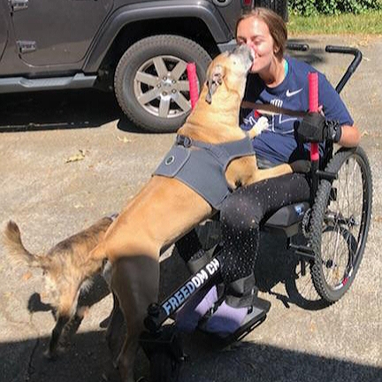 The GRIT Freedom Chair has given us a plethora of opportunities to workout. We can now take trails that once weren't accessible.    —Maggie , C5/C6 quadriplegic