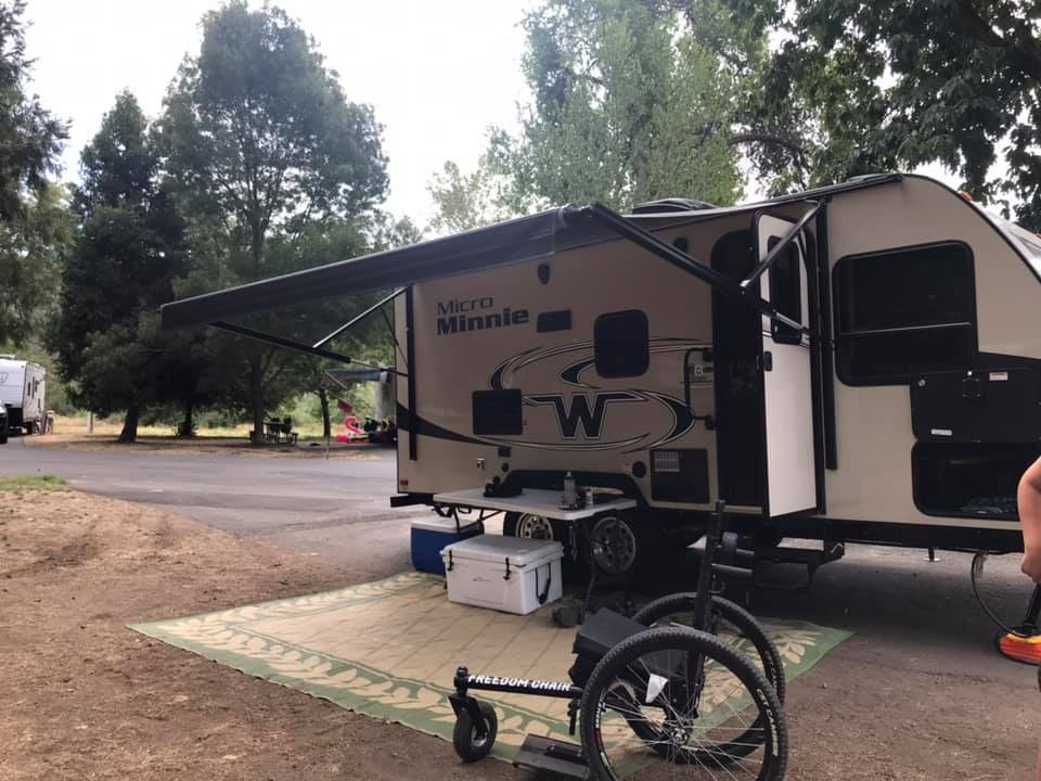 Thank heavens for my Freedom Chair. I was able to get out and enjoy all the beauty during our two-week camping excursion in Southern Oregon.    —Rose