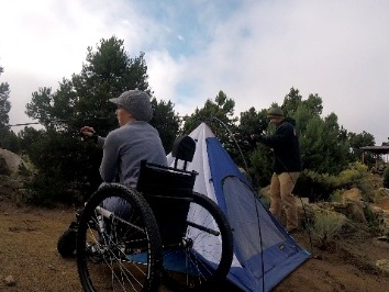 Instead of just waiting for camp to get set, I was able to be an active participant in setting up the camp thanks to my Freedom Chair    —  Nerissa