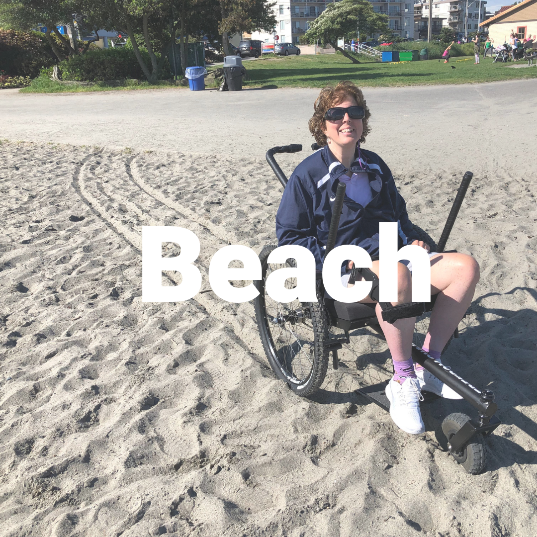 Off-road wheelchair- Beach in the GRIT Freedom Chair