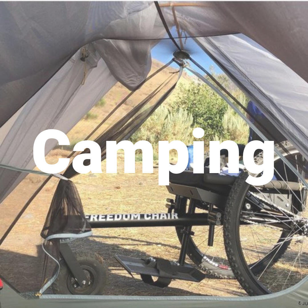 Off-road wheelchair- Camping
