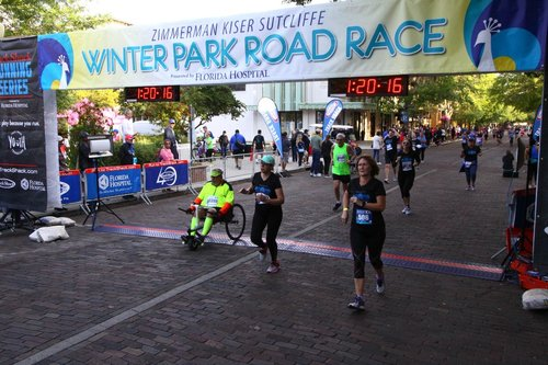 I missed being off-road, but out of all the activities, the thing I missed most was being off on my own for an hour and a half on the bike path. For four years, everyday I couldn't go, out a little part of me died. Here I am at the Florida Hospital Winter Park 5K. 1st place in chair division. 4th place for men 75-79. Time 41:18. Almost 2 minutes faster than my training times!     —Jerry