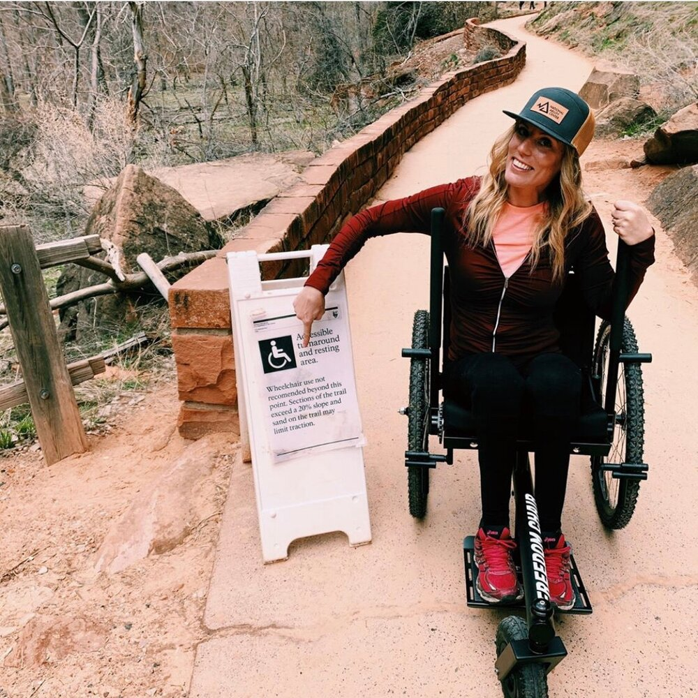 """Husband and I spent the weekend playing in Zion and it was wonderful venturing off the beaten path, and off the limited designated-wheelchair routes.""    —Lisa"