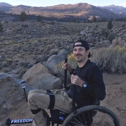 The actual engineering, off-road ability, and lever-drive system are awesome. There is a learning curve from my regular wheelchair, but each time does get better. I am taking it camping next week!    —Chris