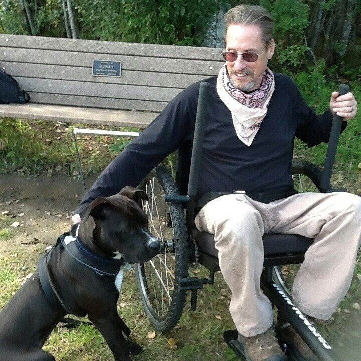 """""""Up here in Fairbanks, Alaska, clear-paved bike trails and access are only a dream. Really rough on wheelchairs. The Freedom Chair is a game changer.""""    —John, Parkinson's Disease"""