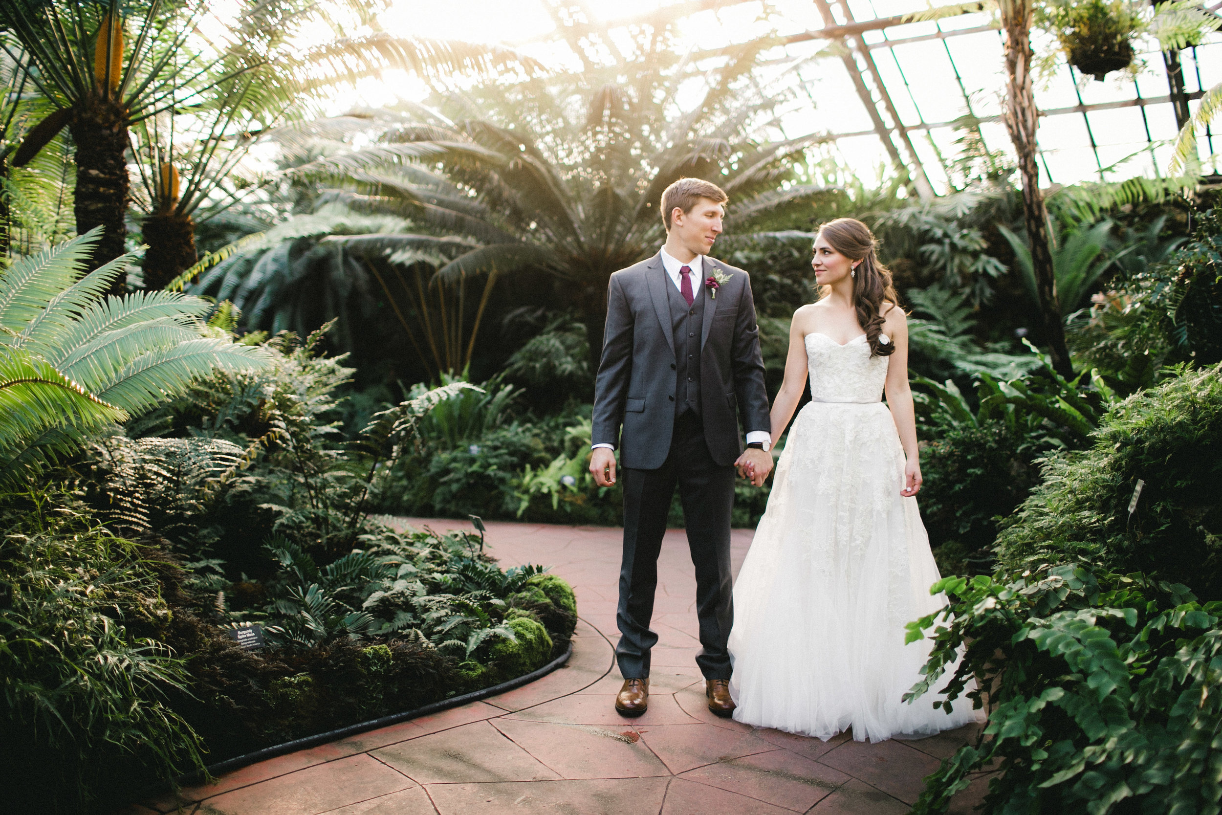 Bridal Portraits in a Conservatory