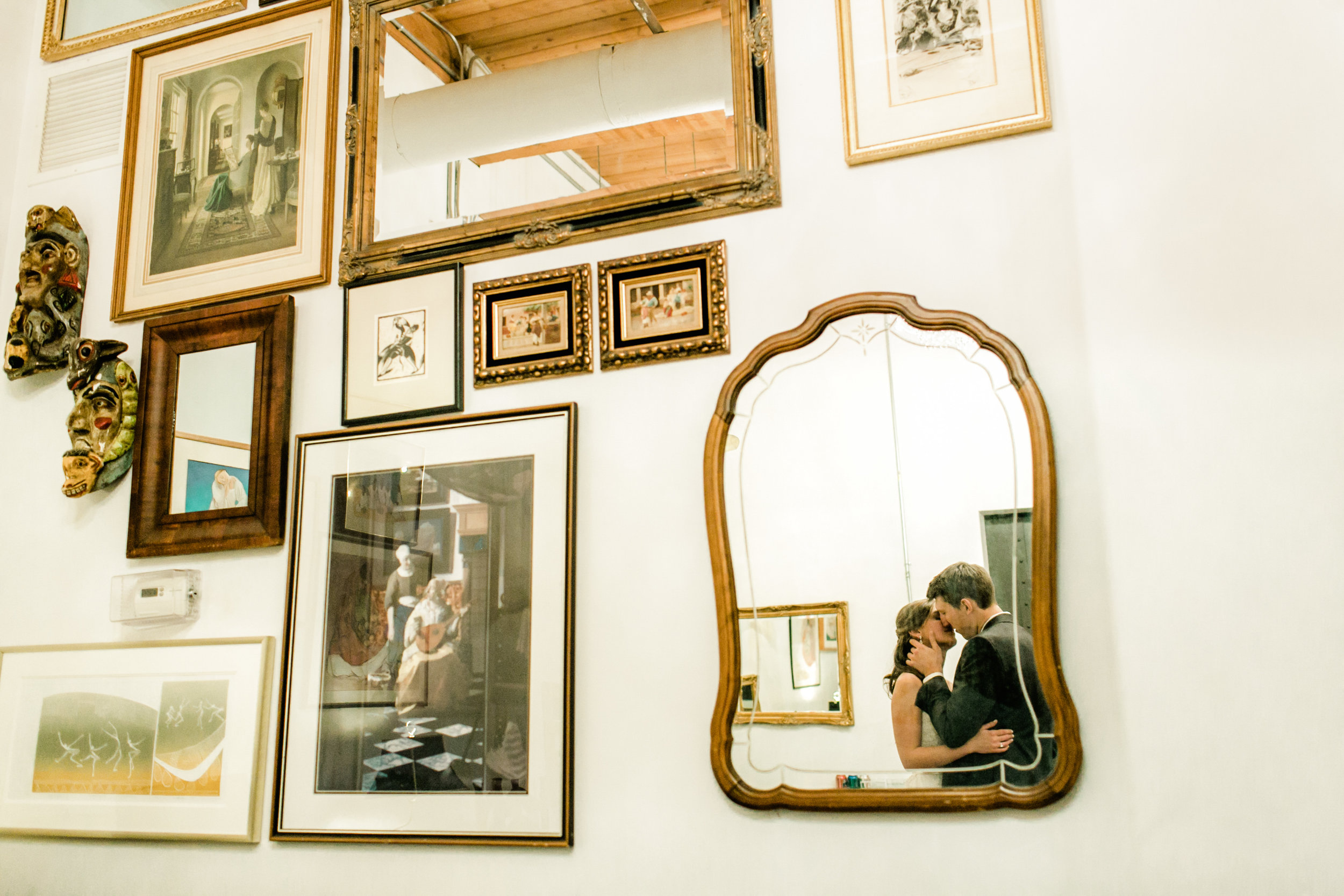 BrideAndGroomHipsterPortrait