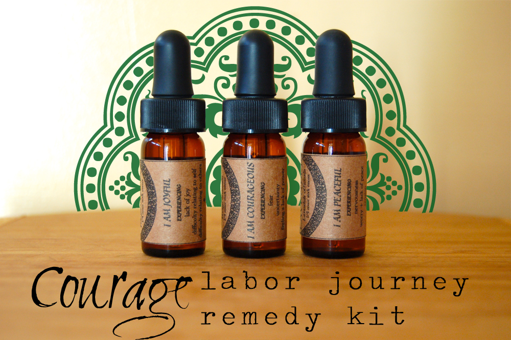 Courage Labor Remedy Kit Birth Doula Flower Essence