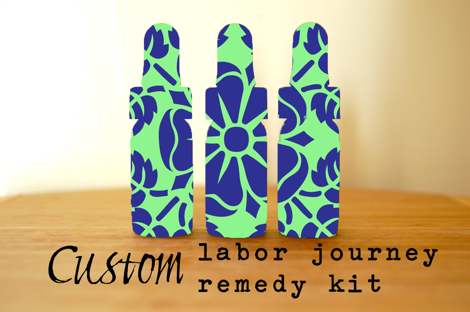 Custom Labor Remedy Kit Birth Doula Flower Essence